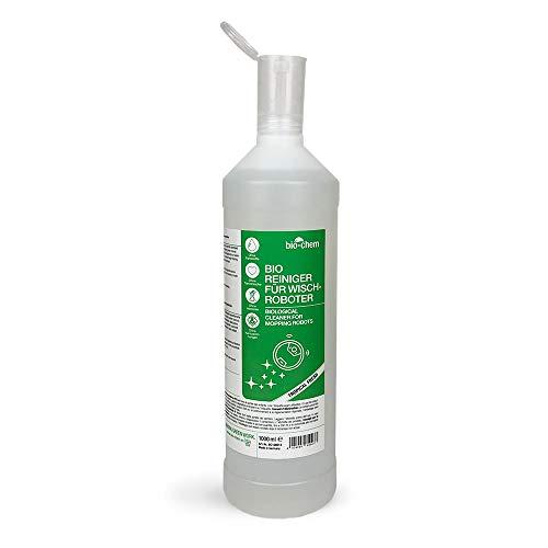 Bio-Chem Bio-Bodenreiniger für Wischroboter 1000 ml inkl. Dosierhilfe, Reinigungsmittel Konzentrat-Flüssigkeit für Bodenwischer, Saugwischer, Saugroboter Aller Marken