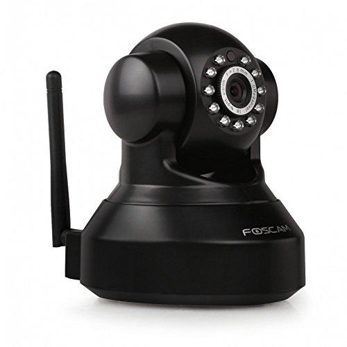 Foscam FI9816P HD Wireless Neig- und Schwenkbare IP WLAN Kamera / Überwachungskamera / Sicherheitskamera mit microSD-Kartenslot, IR Nachtsicht, P2P-Funktion, Bewegungserkennung schwarz