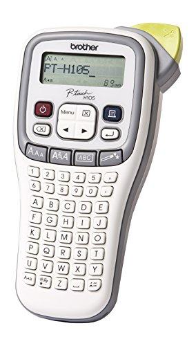 Brother PT-H105 Beschriftungsgerät (für 3,5 bis 12 mm breite TZe-Schriftbänder, bis zu 20 mm/Sek. Druckgeschwindigkeit)