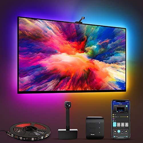 Govee WiFi LED TV Hintergrundbeleuchtung mit Kamera, für 55-65 Zoll TV und PC, RGBIC, App-Steuerung, kompatibel mit Alexa und Google Assistant, für TV und PC