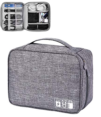 Elektronische Tasche - Elektronik zubehör organisator - universal travel Kabel Organizer Tasche(grau)