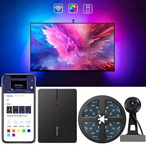 Govee LED TV Hintergrundbeleuchtung, WiFi TV Beleuchtung Kit mit Kamera, für 55-65 Zoll TV, App-Steuerung, Musik Sync, arbeit mit Alexa