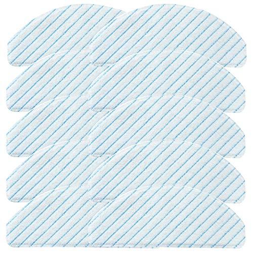 10 Stück Verbessert Reinigungstuch Wischtücher für Ecovacs Deebot Ozmo T8 Aivi T8 MAX Staubsauger Teile