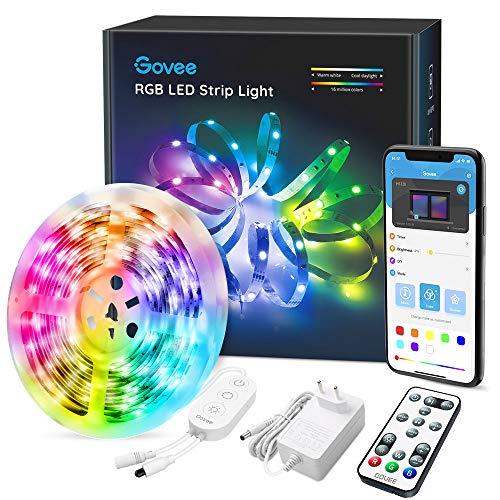 Govee LED Strip 5m, RGB LED Streifen, Steuerbar via App und Fernbedienung, mit Musikmodus, für Zuhause, Schlafzimmer, Küche, Party