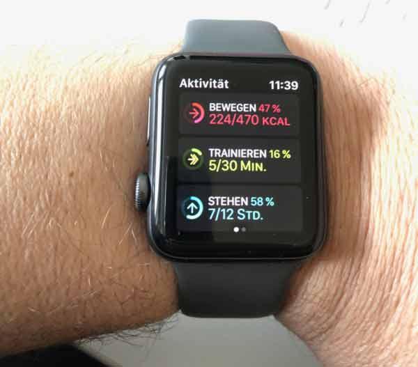 Was bedeuten die farbigen Ringe bei der Apple Watch?