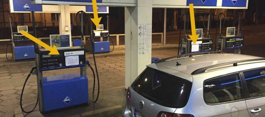 Benzin wird knapp