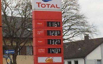 Dieselpreis erfreulich niedrig