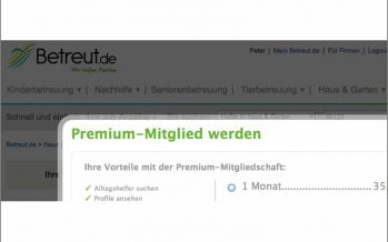 betreut.de – Kontaktaufnahme nur gegen Abo?