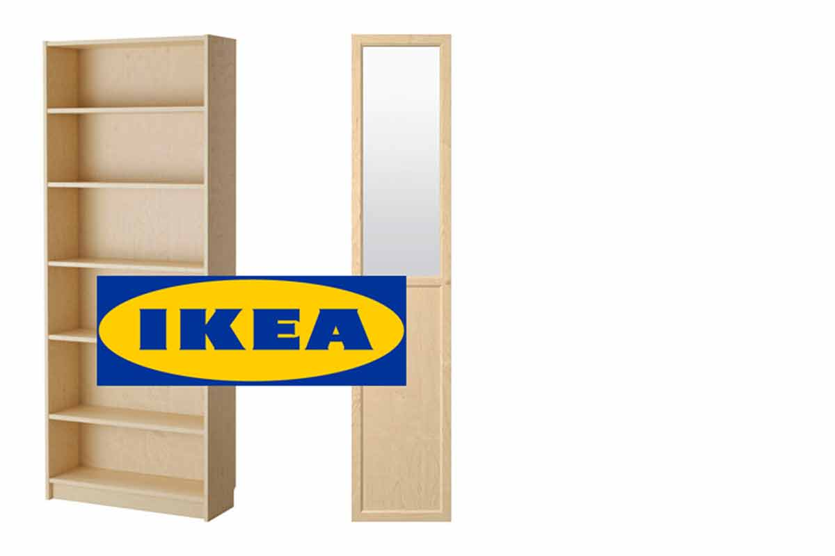 ikea neue t ren an alte billy regale anpassen dreibeinblog. Black Bedroom Furniture Sets. Home Design Ideas