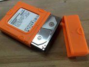 Schutzhülle und Gehäuse für SATA-Festplatten