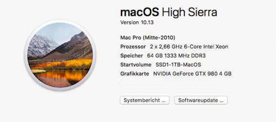 Mac OS High Sierra läuft