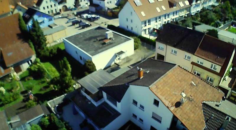 Fotoausschnitt aus einem Video. Höhe ca. 30 Meter.