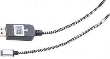 Superstabiles Handykabel für iPhone mit Strommessfunktion