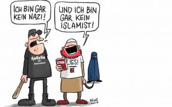 Du, Opfer Du! Du Nazislamist!