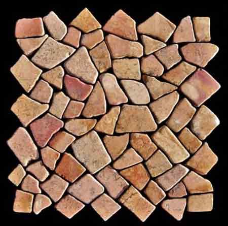 Wände Mit Marmor Bruchstein Mosaik Verschönern Dreibeinblog