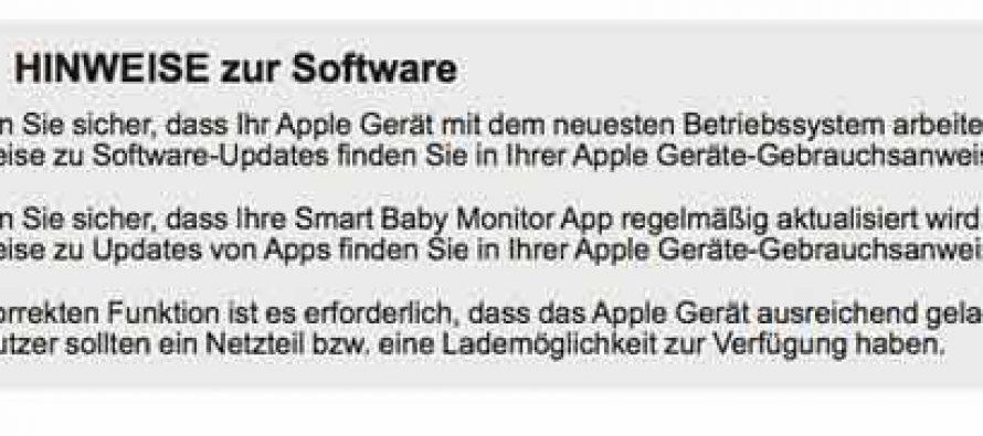 Medisana – Widerspruch in sich – Medisana Smart Baby Monitor