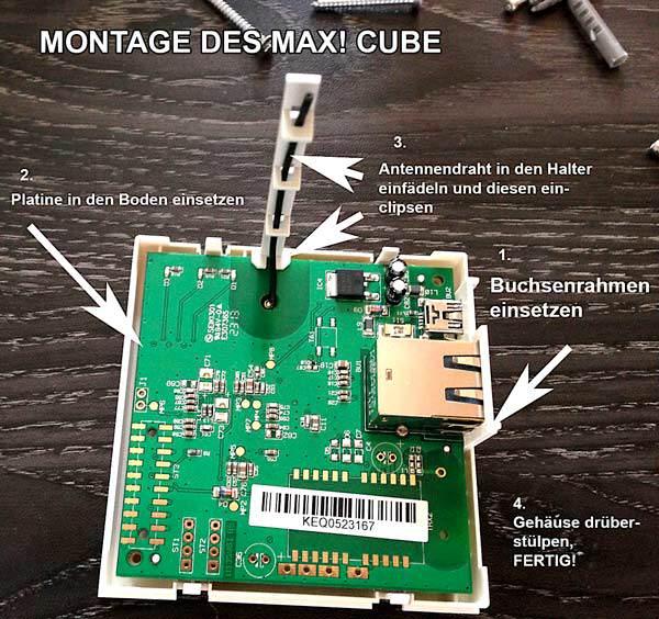max! heizungssteuerung montage-maxcube-eigenesbild