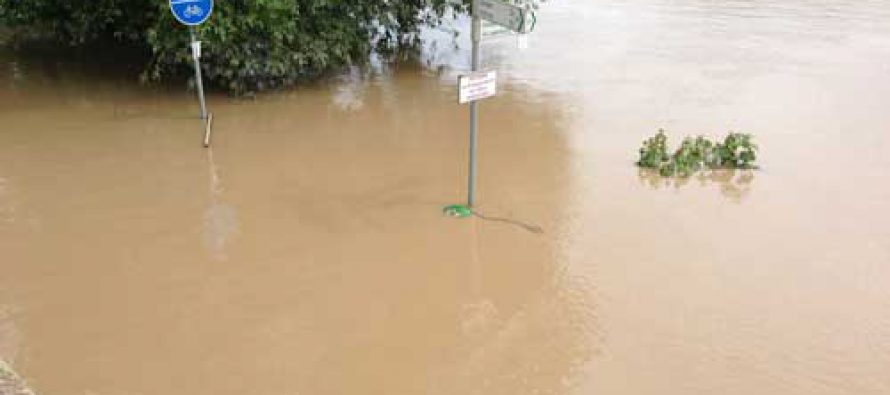 Neckar, der Pegel fällt – Fotos vom Hochwasser 03.06.2013
