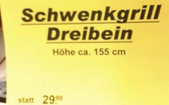 Dreibein jetzt 5 Euro billiger