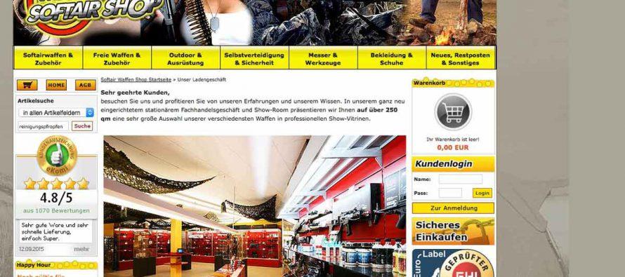 Test: Mega Waffen Softair Shop