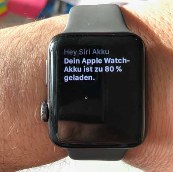 siri apple watch sprachansage