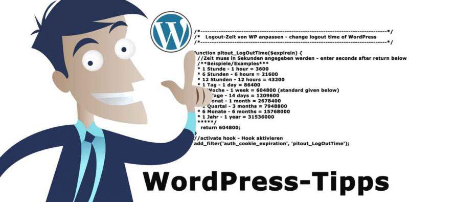 How to change logout time of WordPress – Logout von WP anpassen