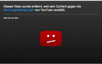 YouTube-Video entfernt